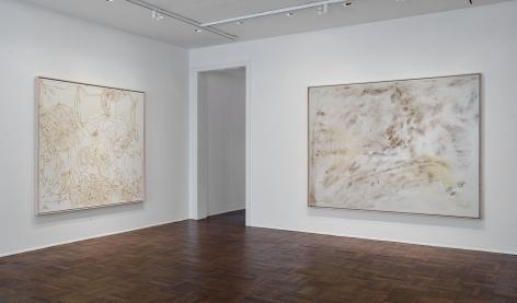 Sigmar Polke, Silver Paintings, New York, 2015, Installation Image 1