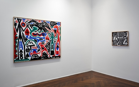 A.R. PENCK, Between Light and Shadow, New York, 2015, Installation Image 7