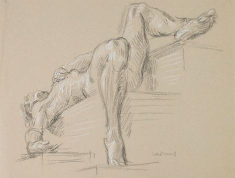 """Untitled Nude Study (Reclining Nude)"", ca. 1983"