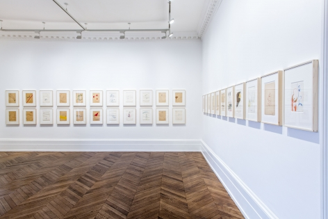Sigmar Polke, Early Works on Paper, London, 2015, Installation Image 6