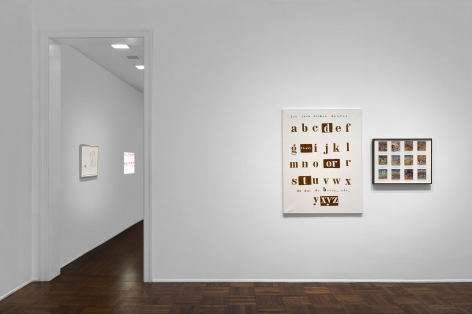 MARCEL BROODTHAERS Écriture 28 January through 26 March 2016 UPPER EAST SIDE, NEW YORK, Installation View 1