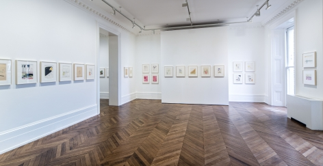 Sigmar Polke, Early Works on Paper, London, 2015, Installation Image 9