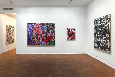 A.R. PENCK New Paintings 10 January through 9 March 2013 UPPER EAST SIDE, NEW YORK, Installation View 1