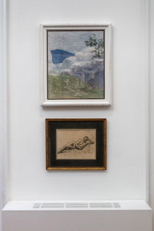 PIERRE PUVIS DE CHAVANNES, Works on Paper and Paintings, London, 2018, Installation Image 10