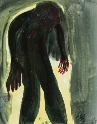 """""""Untitled"""", 2012 Oil on paper"""