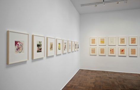 Sigmar Polke, Early Works on Paper, New York, 2014, Installation Image 2