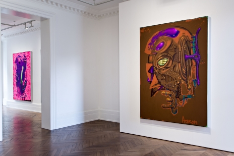 Aaron Curry, Paintings, London, 2014, Installation Image 4