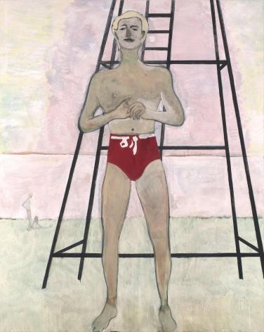 """Peter Doig """"Bather (Lifeguard)"""", 2019"""