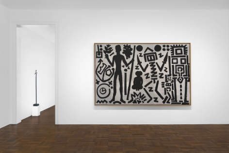 A.R. PENCK, Paintings from the 1980s and Memorial to an Unknown East German Soldier, New York, 2018, Installation Image 5