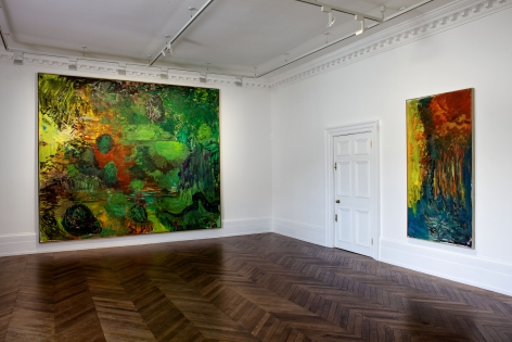 PER KIRKEBY Recent Paintings 5 June through 27 July 2013 MAYFAIR, LONDON, Installation View 1