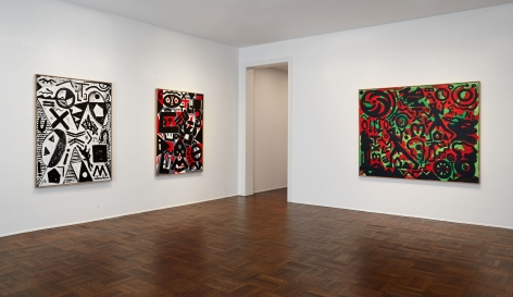 A.R. PENCK, Between Light and Shadow, New York, 2015, Installation Image 1