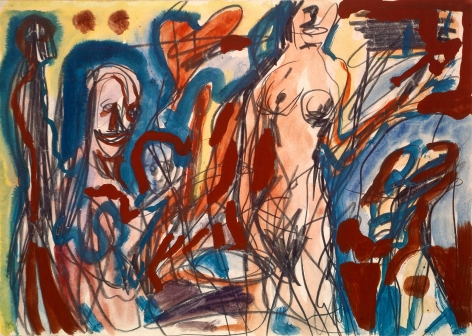 """""""Untitled"""", 1978 Pencil, gouache and paper"""