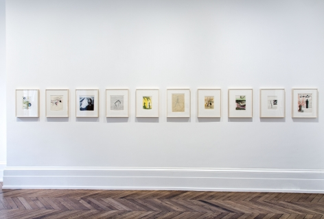 Sigmar Polke, Early Works on Paper, London, 2015, Installation Image 10