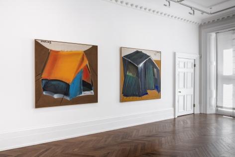MARKUS LÜPERTZ, Tent Paintings, 1965, London, 2018, Installation Image 3