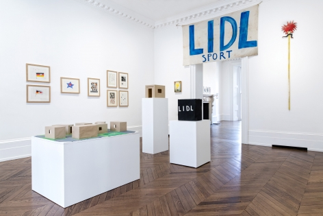 JÖRG IMMENDORFF LIDL Works and Performances from the 60s and Late Paintings after Hogarth 12 May through 2 July 2016 MAYFAIR, LONDON, Installation View 4