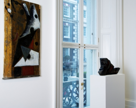 Markus Lüpertz, Players Ball, London, 2014, Installation Image 2