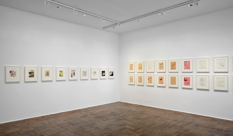 Sigmar Polke, Early Works on Paper, New York, 2014, Installation Image 3