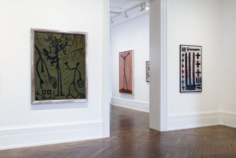 A.R. PENCK, Early Works, London, 2015, Installation Image 3