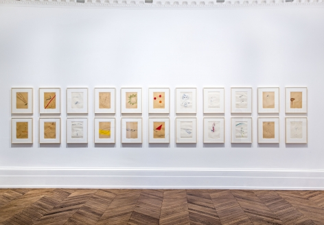 Sigmar Polke, Early Works on Paper, London, 2015, Installation Image 1