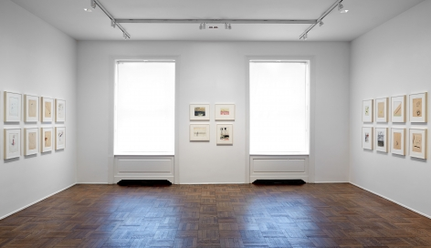 Sigmar Polke, Early Works on Paper, New York, 2014, Installation Image 6