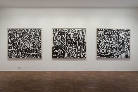 A.R. Penck, New System Paintings, 2009, Michael Werner New York Image 5