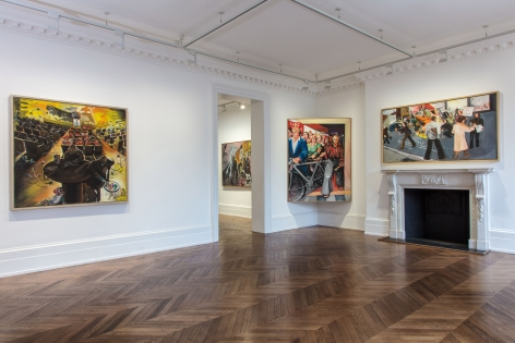 JÖRG IMMENDORFF, Questions from a Painter Who Reads, London, 2018, Installation Image 10
