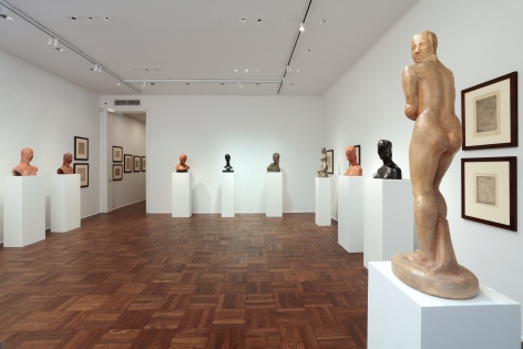 WILHELM LEHMBRUCK, Sculptures and Etchings, New York, 2012, Installation Image 5