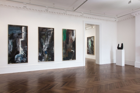 Per Kirkeby, Paintings and Bronzes from the 1980s, London, 2017, Installation Image 5