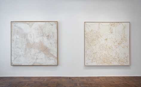 Sigmar Polke, Silver Paintings, New York, 2015, Installation Image 4