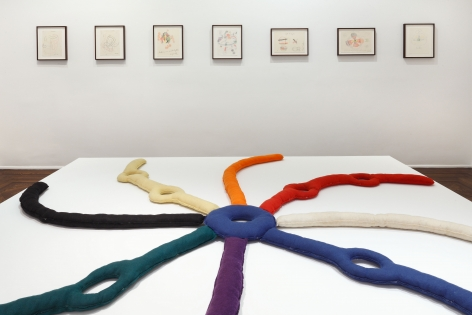 A.R. Penck, Felt Works 1972-1995, New York, 2014, Installation Image 9