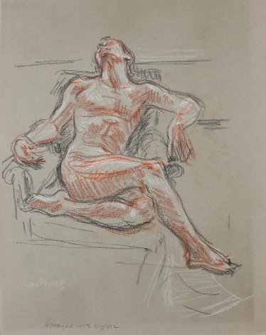 """""""Study for 'Male Nude NM32'"""", 1967"""