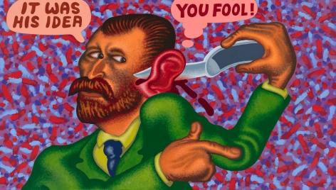 """Van Gogh Cuts Off His Ear"", 2021, Acrylic on canvas"