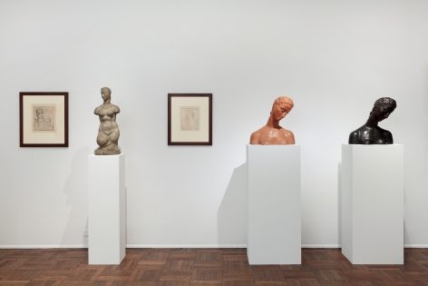 WILHELM LEHMBRUCK, Sculptures and Etchings, New York, 2012, Installation Image 3