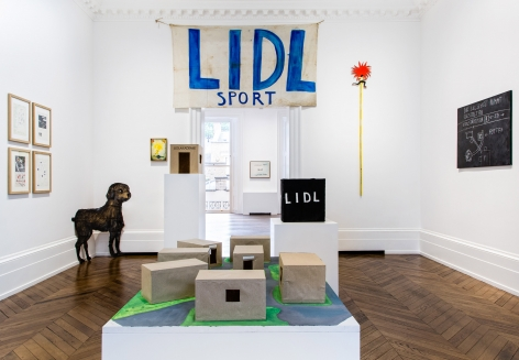 JÖRG IMMENDORFF LIDL Works and Performances from the 60s and Late Paintings after Hogarth 12 May through 2 July 2016 MAYFAIR, LONDON, Installation View 1