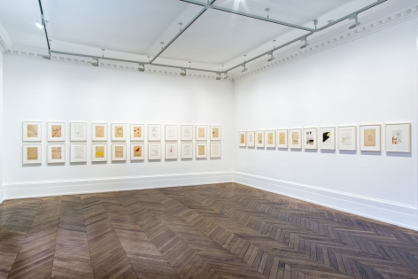 Sigmar Polke, Early Works on Paper, London, 2015, Installation Image 7