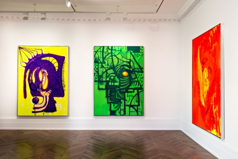 Aaron Curry, Paintings, London, 2014, Installation Image 6