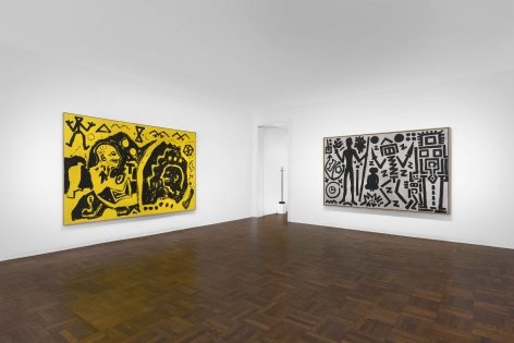 A.R. PENCK, Paintings from the 1980s and Memorial to an Unknown East German Soldier, New York, 2018, Installation Image 4