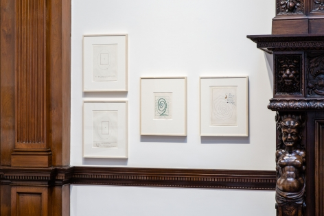 Sigmar Polke, Early Works on Paper, London, 2015, Installation Image 16