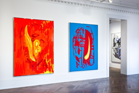 Aaron Curry, Paintings, London, 2014, Installation Image 8
