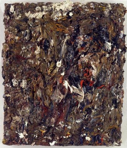 """Eugène Leroy, """"Tête dans un paysage (Head in Landscape)"""", 1996"""