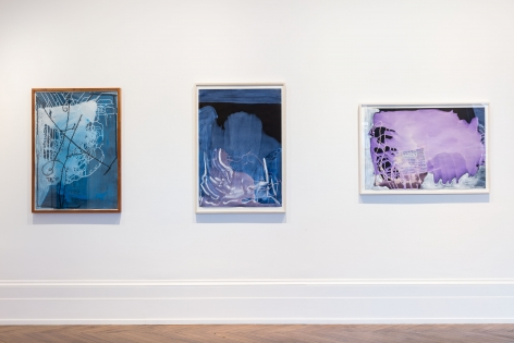 Sigmar Polke, Pour Paintings on Paper, London, 2017, Installation Image 6