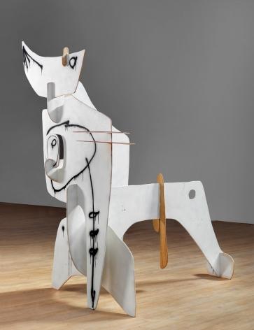 """Phantom"", 2010 Painted wood"