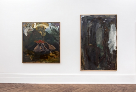 Per Kirkeby, Paintings and Bronzes from the 1980s, London, 2017, Installation Image 3