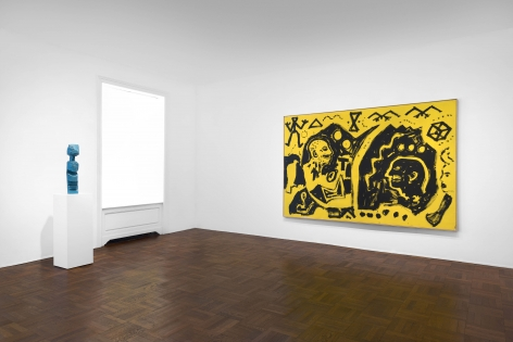 A.R. PENCK, Paintings from the 1980s and Memorial to an Unknown East German Soldier, New York, 2018, Installation Image 3