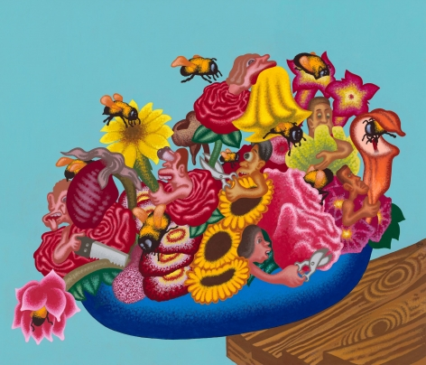 """""""The World Is a Bowl of Flowers"""", 2020, Acrylic on canvas"""