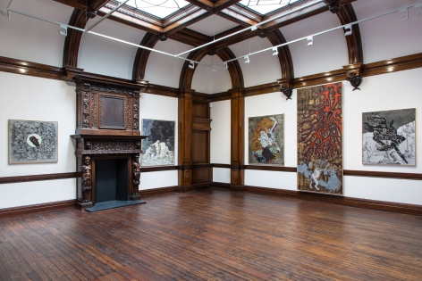 JÖRG IMMENDORFF LIDL Works and Performances from the 60s and Late Paintings after Hogarth 12 May through 2 July 2016 MAYFAIR, LONDON, Installation View 13