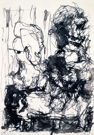 """P.D."""", 1962 India ink on paper"