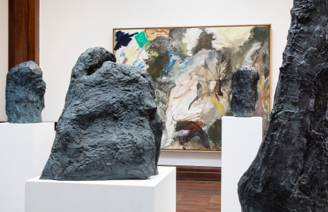 Per Kirkeby, Paintings and Bronzes from the 1980s, London, 2017, Installation Image 14