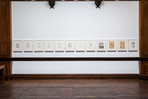 Sigmar Polke, Early Works on Paper, London, 2015, Installation Image 14