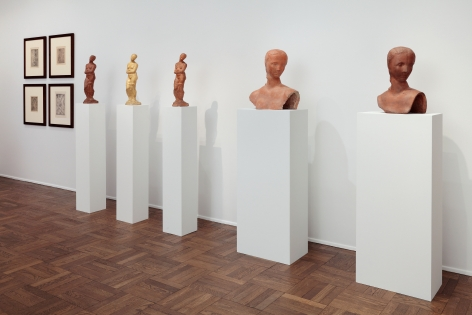 WILHELM LEHMBRUCK, Sculptures and Etchings, New York, 2012, Installation Image 9